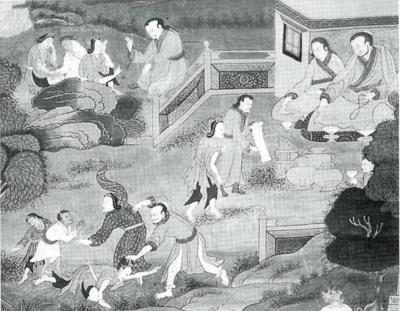 Following the death of his father, Milarepa and his mother are treated as slaves.