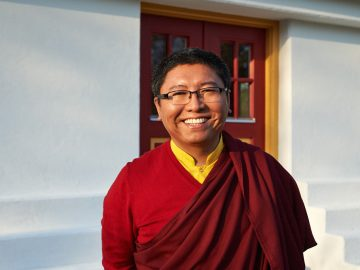 Tsoknyi Rinpoche visiting the new temple of Karma Tashi Ling in Oslo, Norway on March 2014.